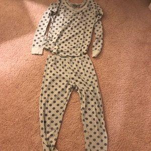 PINK polka dot pajama set